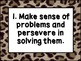 Common Core Mathematical Practices Posters: Jungle Theme