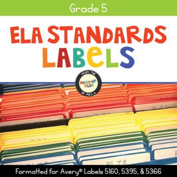 Common Core Labels ELA Grade 5