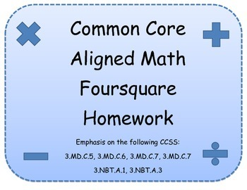 Common Core Foursquare Homework Pack
