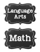 Common Core Fourth Grade I Can Statements-ELA & Math-Chalk