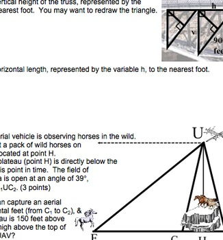 Common Core Geometry G.SRT.6, G.SRT.7, G.SRT.8, G.SRT.10,