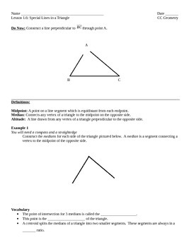 Common Core Geometry - Module 1 Lesson 6