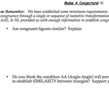 Common Core Geometry Practice (G.SRT.2 G.SRT.3 Similarity