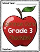 Common Core Checklist: Grade 3