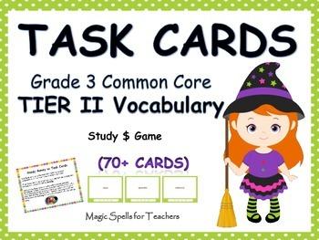 Common Core Grade 3 Tier 2 Vocabulary Task Cards - Differe