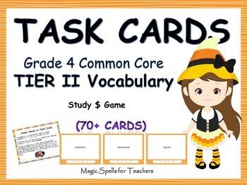 Common Core Grade 4 Tier 2 Vocabulary Task Cards - Differe