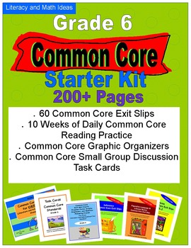 Common Core Grade 6 Starter Kit