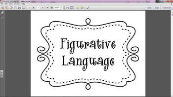 Common Core Grade 7 Figurative Language Posters