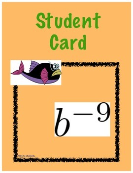 Common Core Grade 8 Math Integer Exponents Review Game - H