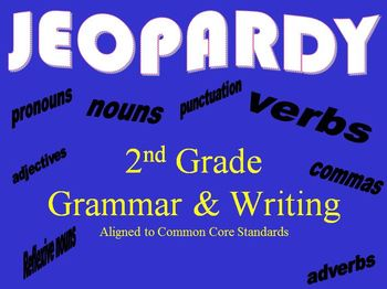 Common Core Grammar & Writing Review Jeopardy Game