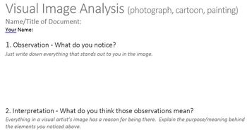 Common Core Guide - Primary Documents - Visual Image Analysis