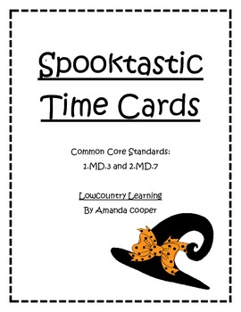 Common Core Halloween Time Cards Activity