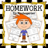 Homework for Kindergarten Common Core