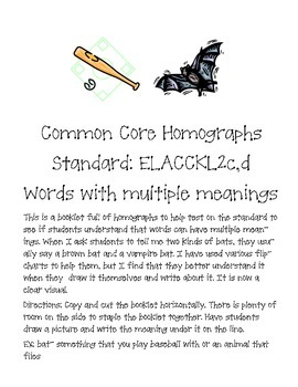 Common Core Homograph book