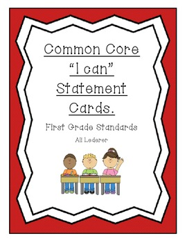 Common Core I Can Cards