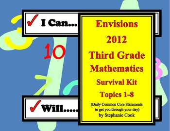 Envisions 2012  I Can I Will Statements for 3rd grade, Part I