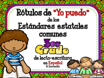 """Common Core """"I Can"""" Language Arts Posters in Spanish for 3"""