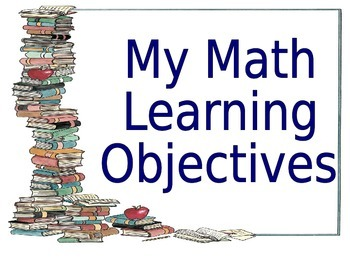 """Common Core """"I Can..."""" Math Statements"""
