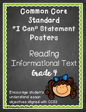 Common Core I Can Statement Posters Reading Informational