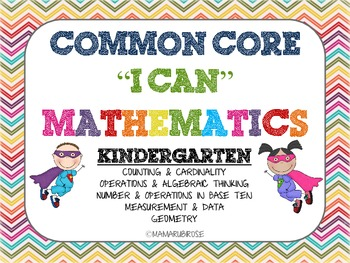 Common Core I Can Statements for Kindergarten Mathematics
