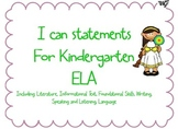 "Common Core ""I Can"" statements & Essential Questions for K"