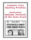 Common Core-Aligned Informational Text Grades 7-9: The JFK