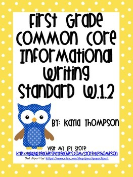 Common Core Informational Writing Standards