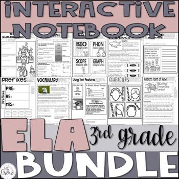 Common Core Interactive Reading Notebook Bundle ~3rd Grade~