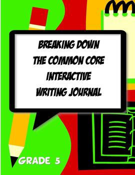 Interactive Writing Notebook Journal Common Core 5th Grade