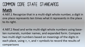 Common Core Introduction of Place Value