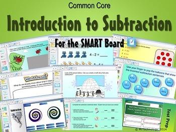 Common Core Introduction to Subtraction (Kindergarten & Grade 1)