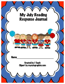 Common Core July Reading Response Journal