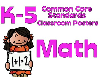 Common Core K-5 Math Posters