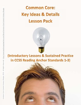 Common Core: Key Ideas and Details Lesson 5-Pack (Anchor R