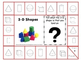 Common Core Kindergarten 2-d and 3-d Shapes Games