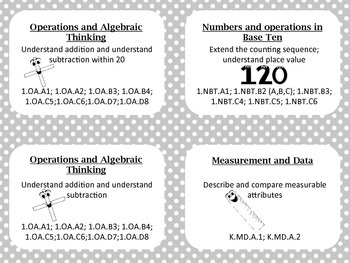 Common Core First Grade Math Tub Labels (black and white)