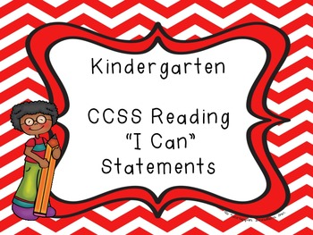 "Common Core Kindergarten ""I Can"" Statements and Checklists"