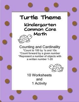 Common Core Kindergarten Math Counting and Cardinality Tur
