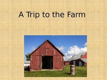 Common Core Kindergarten Virtual Field Trip to a Farm, Lis