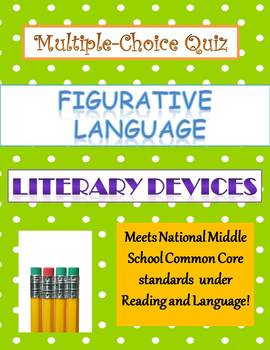 Common Core Language Arts Figurative Language Quiz