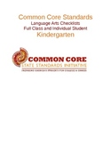 Common Core Language Arts Standards Chart - Kindergarten .docx