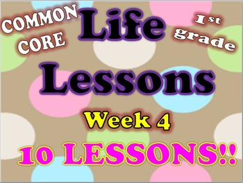 Life Lessons Week 4 Lesson Plans