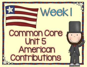American Contributions with Abraham Lincoln Lesson Plans