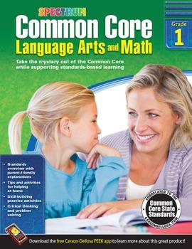 Common Core Language Arts and Math Grade 1 SALE 20% OFF! 704501