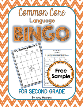 Common Core Language Bingo for 2nd Grade {Free Sample} {Co