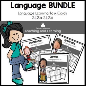 Language Bundled Set of Task Cards  2.L.2.a-c.