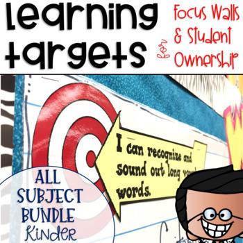 Common Core Learning Target Bundle Kindergarten
