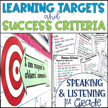 Common Core Learning Target and Success Criteria Bundle Sp