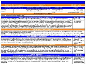 Common Core Lesson Plan ELA & MATH Grades 6-8 with Drop Do