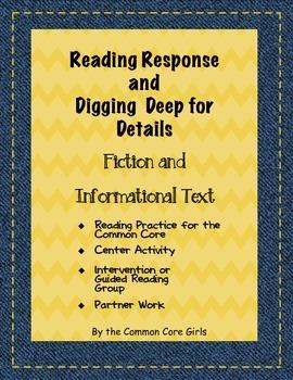 Literacy Center: Common Core Book Study~ Fiction/Informati